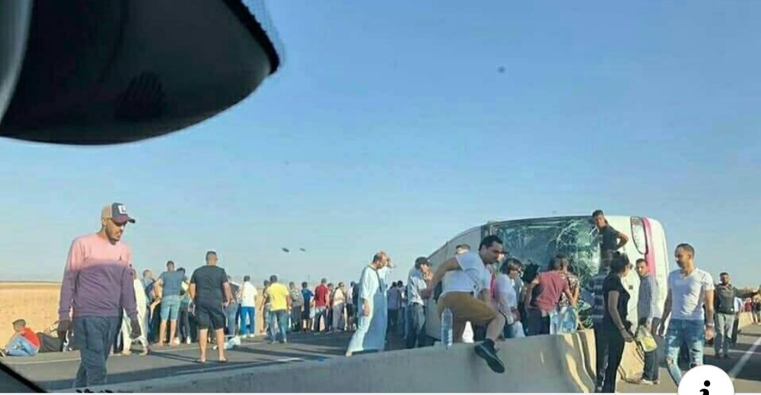 مأساة..انقلاب حافلة لنقل المسافرين بطريق السيار ضواحي مراكش