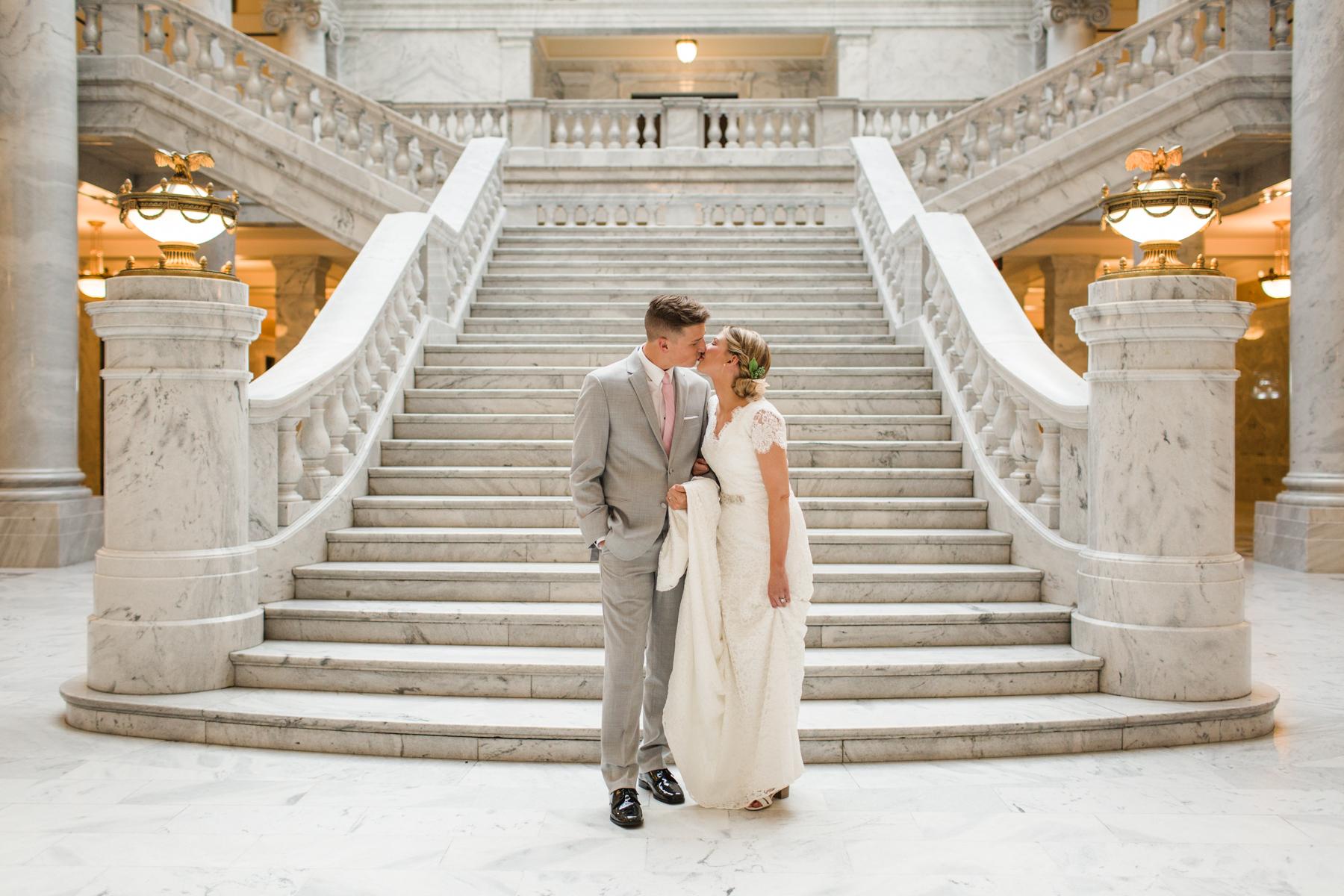 Jadie Jo Photography Amie Mike Utah State Capitol