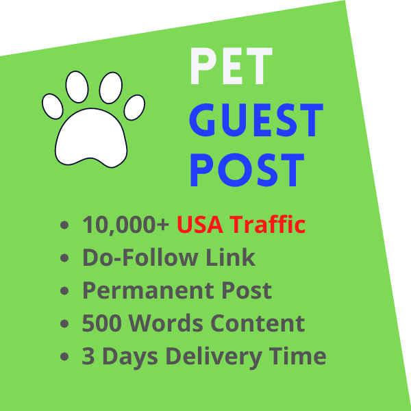 Pet Guest Post USA Traffic Blog