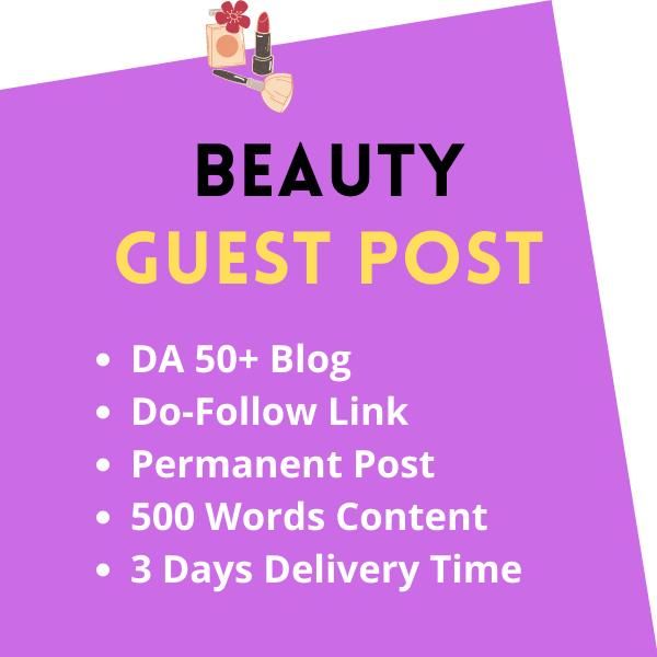 High DA Beauty Guest Post