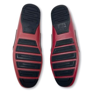 Versace Red Suede Medusa Loafers 40