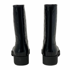 Louis Vuitton Black Drops Half Rainboots 39