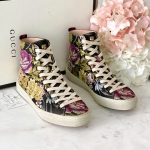 Gucci Floral Blind For Love High Top Sneakers 36.5