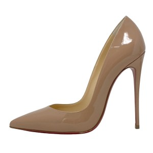 Christian Louboutin Nude Patent SO Kate Pumps 120MM 37.5