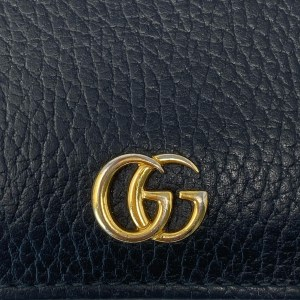 Gucci Black GG Marmont Card Case Wallet