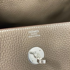 Hermes Etoupe Clemence PHW Lindy 30