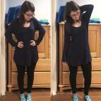 Blue Marled Sweater Knit (Plantain Tee)