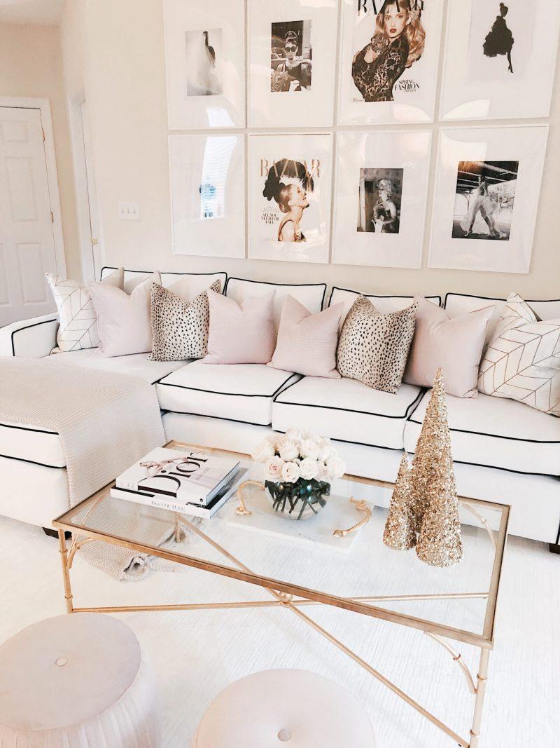 Chanel & Glam Inspired living room makeover