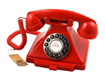 Red Vintage Style Telephone