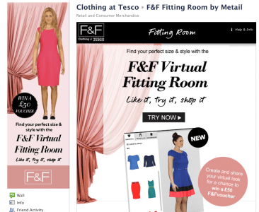 Tesco Clothing Virtual Fitting Room