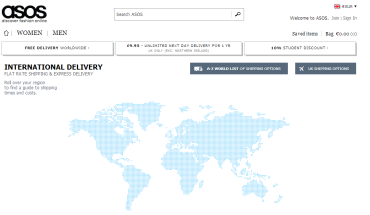 ASOS Free International Delivery