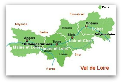 Loire Valley Departments
