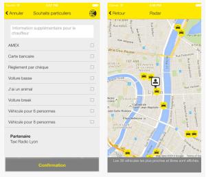 Taxi Lyon Mobile App