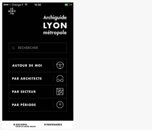 Archiguide Lyon Metropole Mobile App
