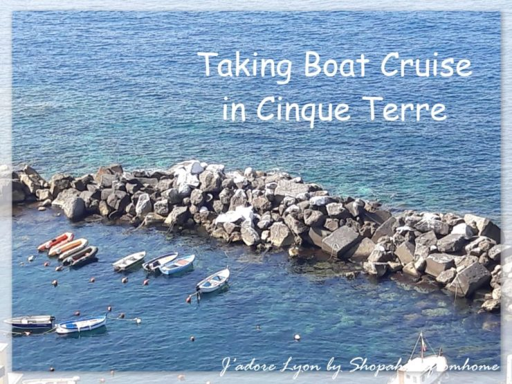 Taking boat cruise in Cinque Terre