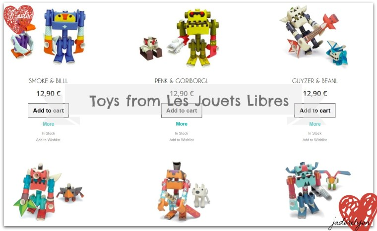 Toys from Les Jouets Libres - Piperoid_Selection_Paper_Toys