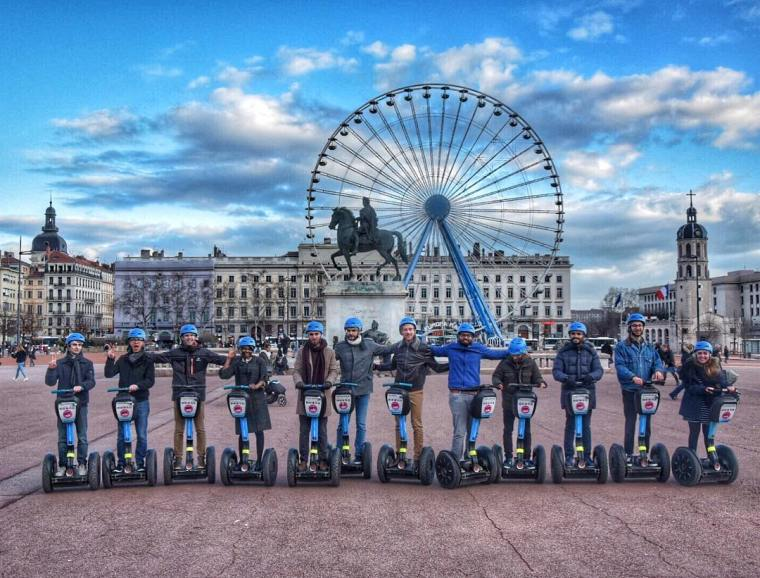 Mobilboard in Bellecour, Lyon