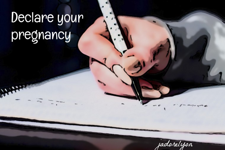 declare your pregnancy in france