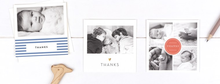 Baby Thank You Cards (Faire-part de naissance)