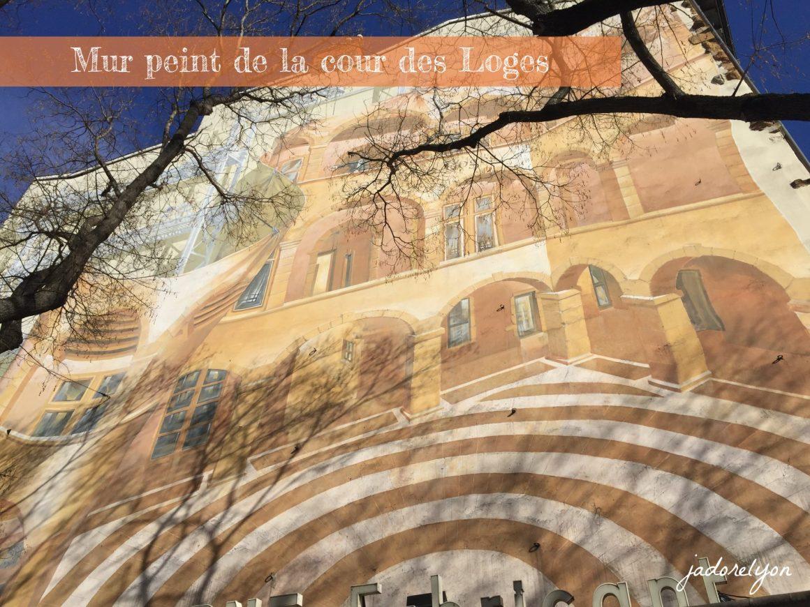 Mur peint de la cour des Loges(1)