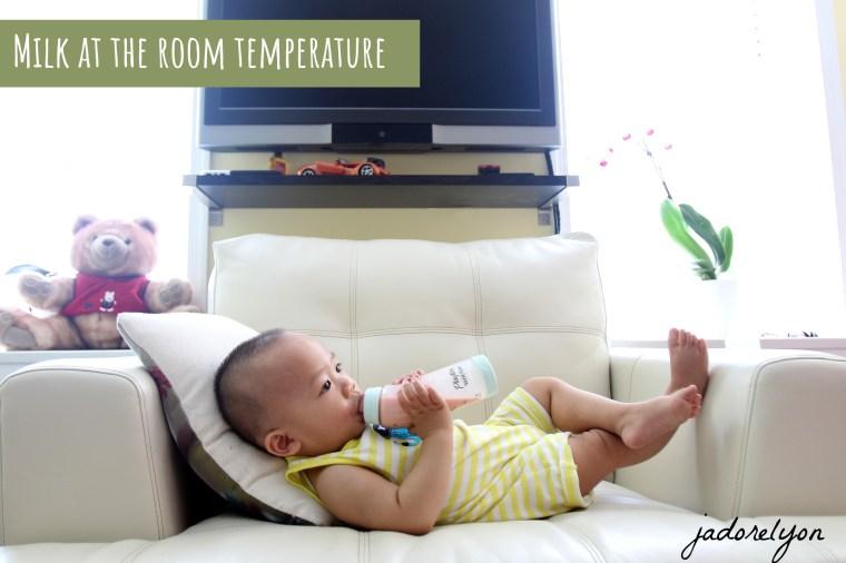 Milk at room temperature