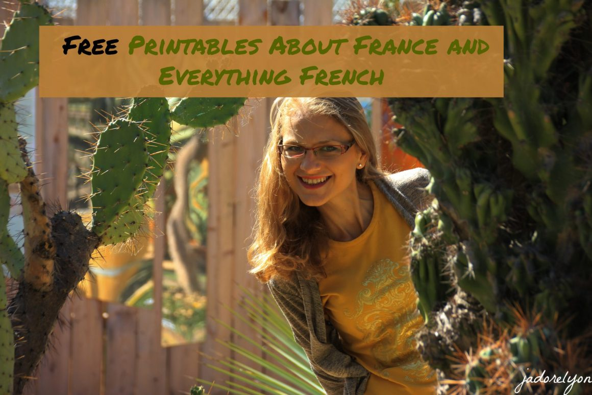 Free Printables About France and Everything French