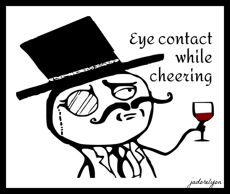 Eye contact while cheering