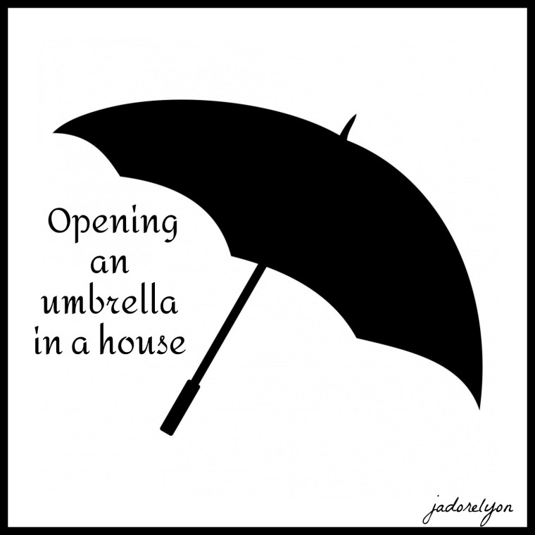 Opening an umbrella in a house.(1)