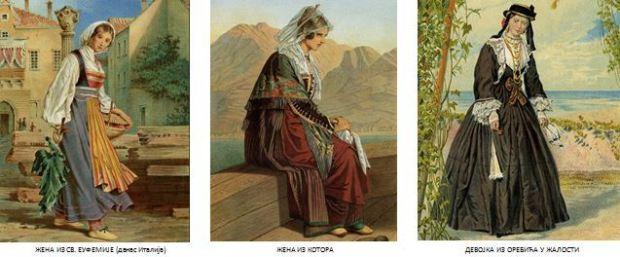 Женска ношња из св. Еуф. Котора и у жалости