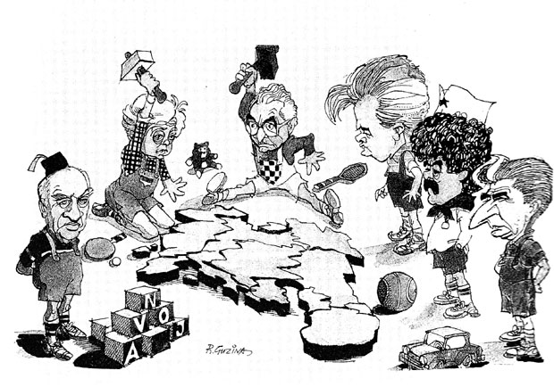 Чувена карикатура нашег легендарног карикатуристе Ранка Гузине настала у време растурања СФРЈ