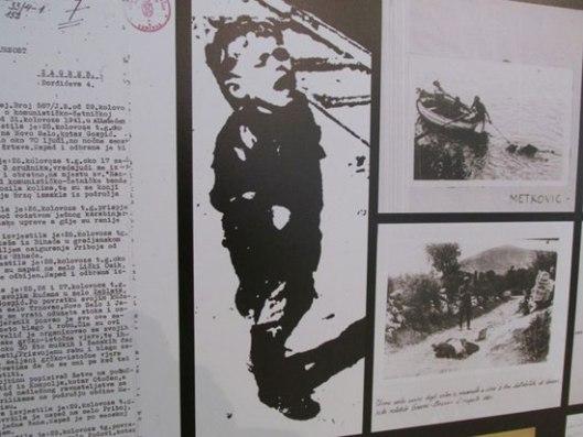 Сећање на Јадовно, Јасеновац, Козару, Сајмиште: Детаљ са изложбе на отвореном у Кнез Михајловој улици у Београду