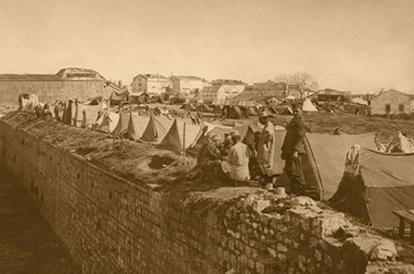 Српски логор на крфској тврђави