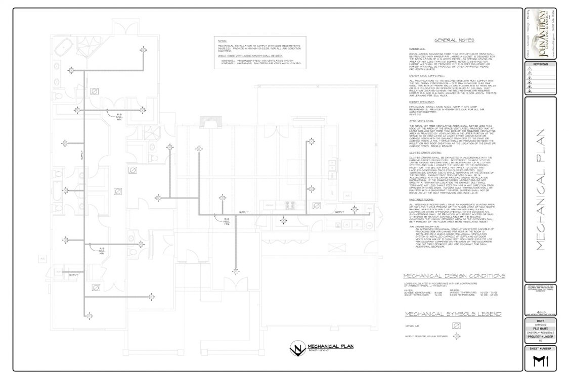 Construction Plan Set By John Anthony Drafting and Design