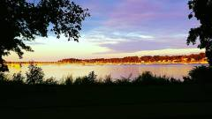 The view of Marblehead, MA from Salem.