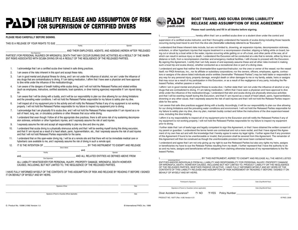 Liability Forms