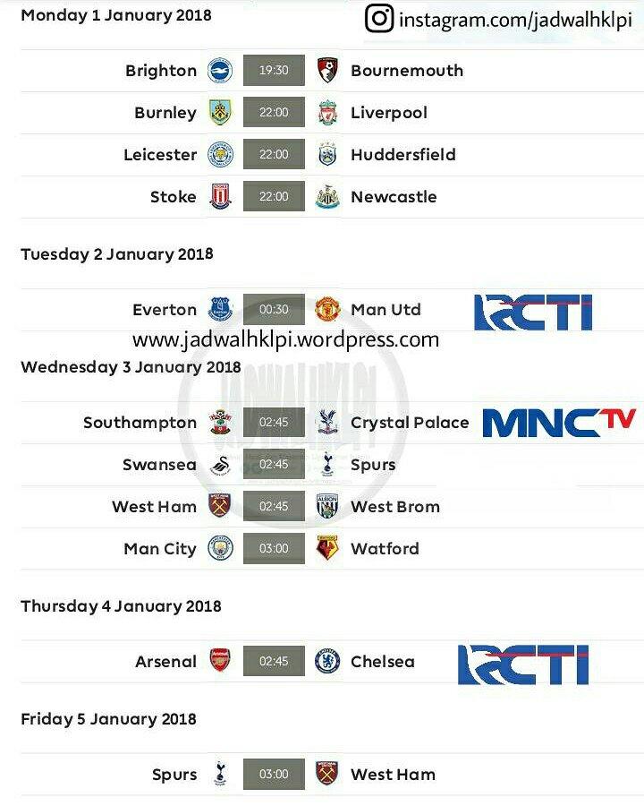 Jadwal Bola Malam Ini Live Tv Lokal : jadwal, malam, lokal, Lengkap, 2019:, Jadwal, Inggris, Lokal