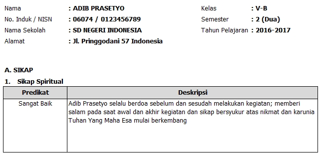 Raport K13 Aplikasi Raport Otomatis