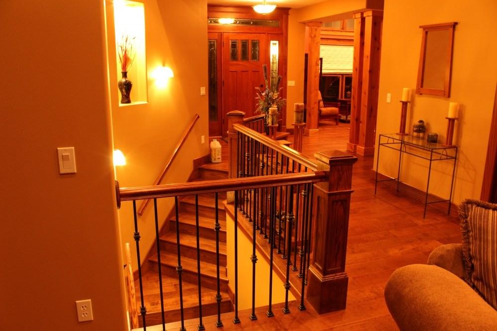 Red Oak Box Newels And Custom Red Oak Stair Treads   Custom Oak Stair Treads