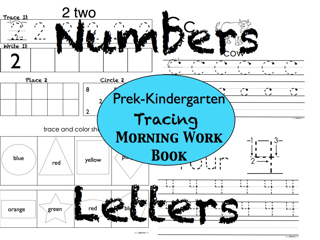 Tracing Letters and Numbers Workbook for Pre-school and Kindergarten ...