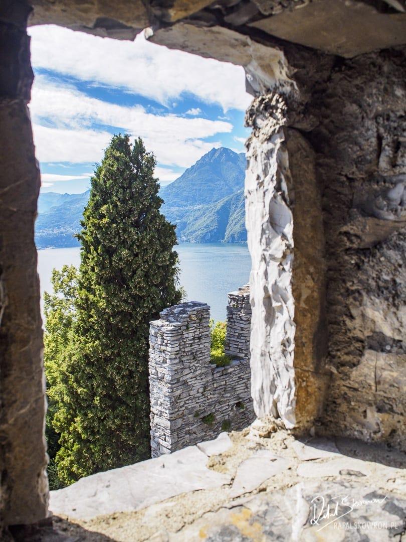 Widok na Como z baszty na zamku Vezio