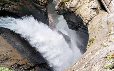 Wodospady Trümmelbach