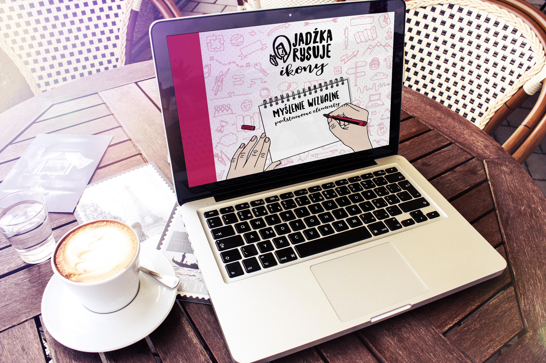 E-book Jadźka Rysuje ikony na laptopie
