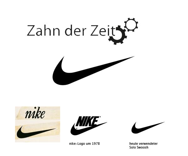 Entwicklung des Nike Logos