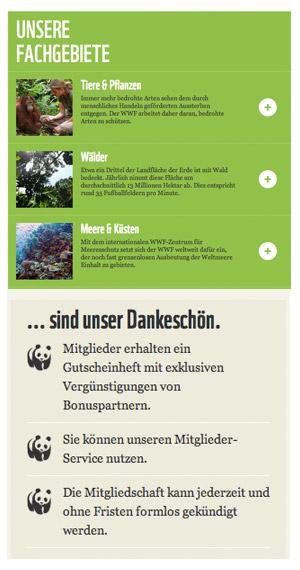 Elemente von wwf.de