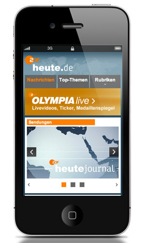 Webseite des Monats: Mobile Anwendung
