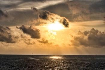 Flitterwochen Malediven: Sonnenuntergang