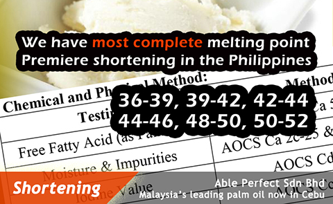 Philippines Shortening, Shortening from Philippines Supplier