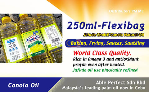OEM Canola oil at Philippines B2B cooking oil system
