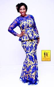 Blue Lace and Yellow Aso-ebi Style by NHN Couture- Makeup and Gele by Jagabeauty
