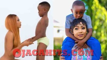 Akuapem Poloo and her 7 years old son